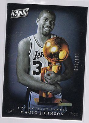 2018 Panini Black Friday Panini Collection #MJ Magic Johnson 030/199