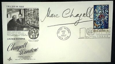 Marc CHAGALL-- SIGNED First Day Cover--Excellent- UN Window--11/17/1967