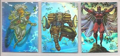 1993 MARVEL X-MEN SERIES 2 COMPLETE HOLOGRAM CHASE CARD SET H1 - H3 NM Universe