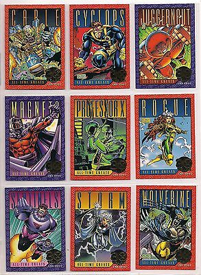 1993 Marvel X-Men Series 2 Complete Gold Foil Chase Card Set Of 9 Nm Universe