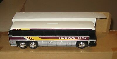 """Vintage Leisure Line Plastic Toy Bus Bank 10"""" with The Box New"""
