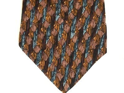 Stonehenge Cocktail Collection Mens Necktie Tie Martini Under a Microscope Brown