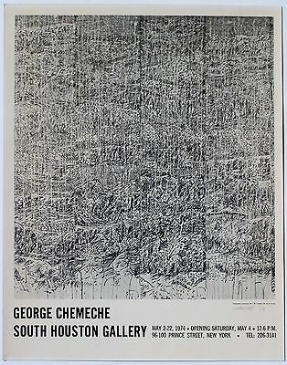 SoHo New York Artist George Chemeche Art Gallery Litho Exhibition Opening Poster