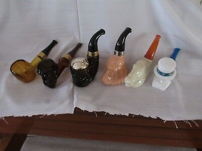 Vintage Avon Pipe Collection early 1970's 7 different decanters 1 duplicate empt