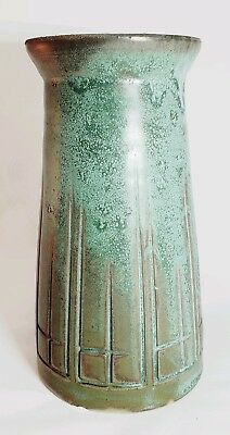 D Schock Pottery Arts and Crafts, Mission, Prairie style vase.