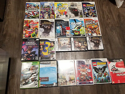 Lot of 21 Wii, GmaeCube, and DS Games Tested