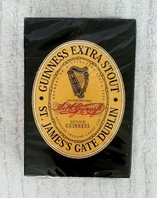 GUINNESS Extra Stout BEER PLAYING CARDS Poster Deck NEW Sealed ST JAMES DUBLIN