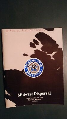 Sikkema-Star Farm Midwest Holstein Dispersal Sale Catalog 1995 Lake Mills Wis.