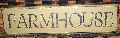 "Primitive  Country Farmhouse 10"" Shelf Sign"