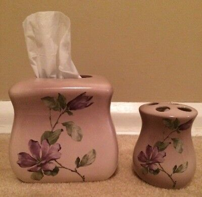Ceramic Bathroom Accessories Tissue Box Holder and Toothbrush holder