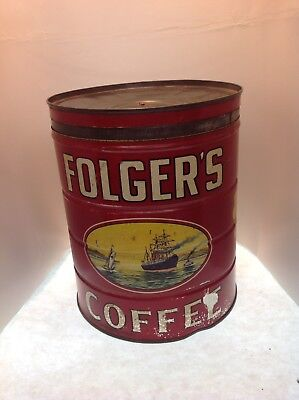 RARE 5 Pound FOLGERS COFFEE CAN SPECIAL GRIND