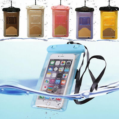 6A1C Universal PVC Waterproof Case Bag Pouch with Arm Neck Strap For Smart Phone