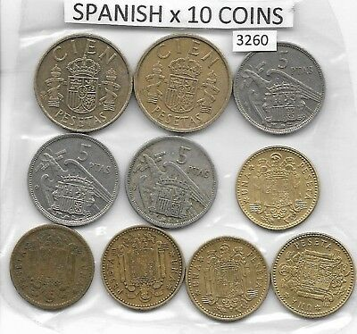 Spanish x 10 Mixed Coins