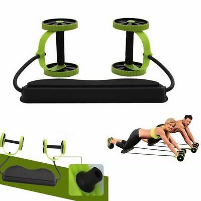 Gym Abs Roller Wheel Pull Rope Waist Abdominal Slimming Fitness Equipment USA