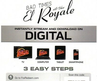 Bad Times at the El Royale (digital code) ***BRAND NEW*** will send via e-mail