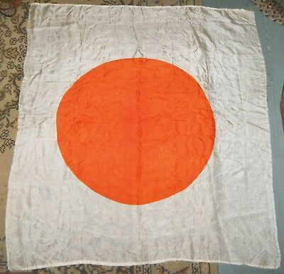 Vintage World War II JAPANESE Silk Meatball FLAG, BANNER, SCARF, Zero Rising Sun