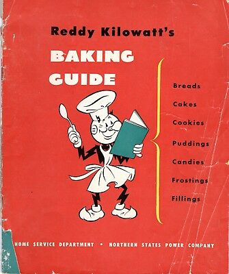 Reddy Kilowatt  Baking Guide Antique Cookbook Recipes 1950's
