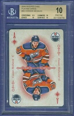 2018-19 OPC O Pee Chee Playing Cards Connor McDavid BGS 10