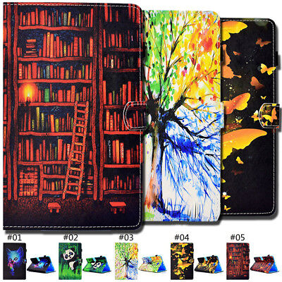 For Samsung PU Leather Tablet Folio Fashion Smart Wake/Sleep Stand Case Cover