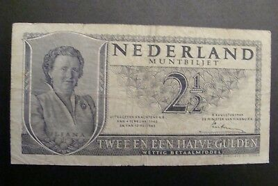 Netherlands 2 1/2 Gulden 1945