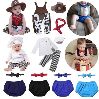 243b47a99 Toddler Baby Boys Girls Costume Chef Cowboy Birthday Party Fancy Dress Up  Outfit