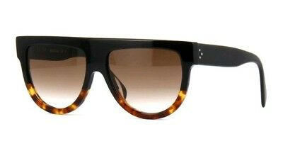 d7ee92857c7 CELINE Shadow CL 41026 S sunglasses black tortise Havana brown gradient  lens IT