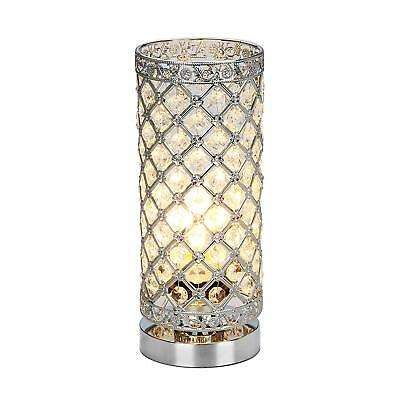 Crystal Table Lamp Touch Control Dimmable Accent Desk Lamp Bedside Modern Table