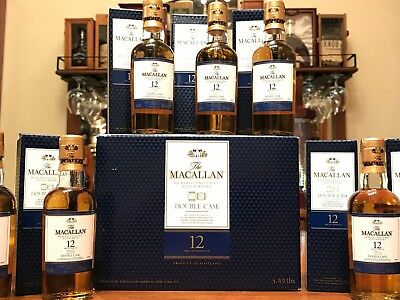 Case of 12 Mini Macallan Double Cask highland single malt miniature whisky box