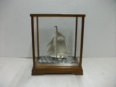 The sailboat of Silver of Japan.  #52g/ 1.83oz. Japanese antique