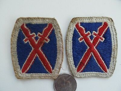 Ww2 Us Military Patch Lot. 10Th Mountain Div. No Glow Original.