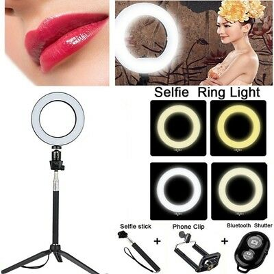 8'' LED Ring Light Kit With Stand Dimmable 5500K Selfie For Camera Makeup Phone