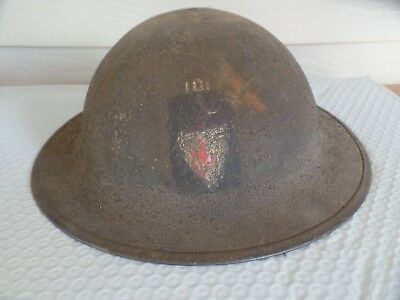 WW1 US Doughboy Helmet With Period Painted 101st Inf. Division Insignia