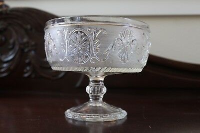 Antique Glass Compote Bowl VTG