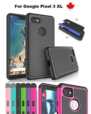 "For Google Pixel 3 XL (6.3"") Shockproof Hybrid Heavy Duty Hard Tough Cover Case"
