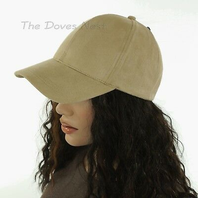 bb46c4ea6aa DAVID   YOUNG Women s SAND BEIGE Faux Suede BASEBALL CAP Six Panel HAT One  Size