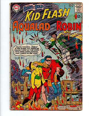 Brave and the Bold # 54 1st SA Appearance of the Teen Titans Robin Aqualad