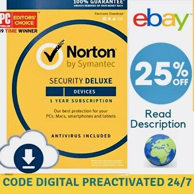 Norton Security Deluxe 1 PC / 2019 - 1 YEAR ✅ | Download | ✅ 100% GENUINE