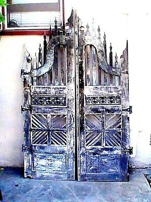 ANTIQUE RARE GOTHIC ARCHITECTURE PRIMITIVE FRENCH ENGLISH GARDEN GATE Hardware
