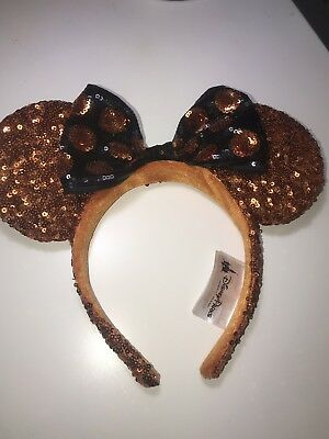Authentic Disney Parks Minnie Mouse Sequined Ears Headband
