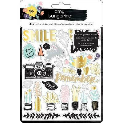 Amy Tangerine -  Shine On Stickers 8 Page Book 419 Stickers - Planner Deco