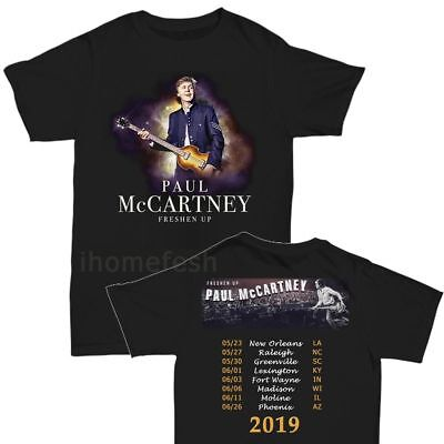 Paul McCartney Shirt 2019 Freshen Up Concert Tour T-Shirt Size S-3XL Men Black
