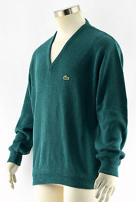 Izod Rouge Over Homme Vintage Lacoste Moyenne Col Pull V Rxc1wRArqY