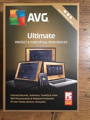 NEW AVG Ultimate 2019 - Unlimited Devices 2 Years protection Android Mac Windows