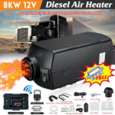 12V 5KW Diesel Air Heater 10L Tank LCD Thermostat For Truck Boat Car Bus Trailer