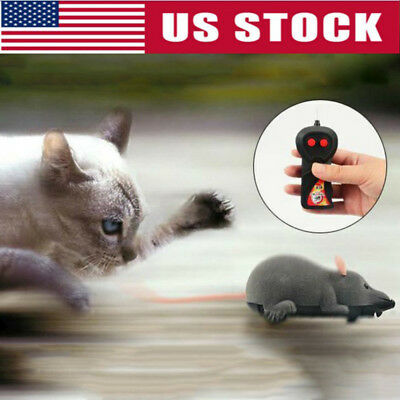 1PC Wireless Remote Control RC Electronic Rat Mouse Mice Toy For Puppy Cat Gift
