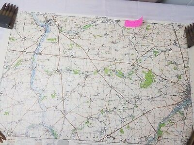 WW2 WWII US U.S. Map, St.Quentin France,Original,War Department,Army,Military