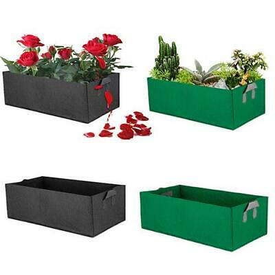 Outdoor Garden Bed Fabric Raised Vegetable Planter Flower Herb Rectangle Bed