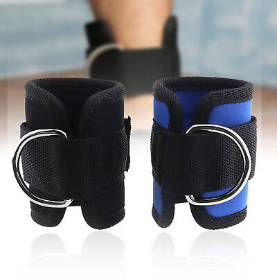 D-ring Ankle Strap Gym Cable Attachment Leg Strength Training Fitness Equipment