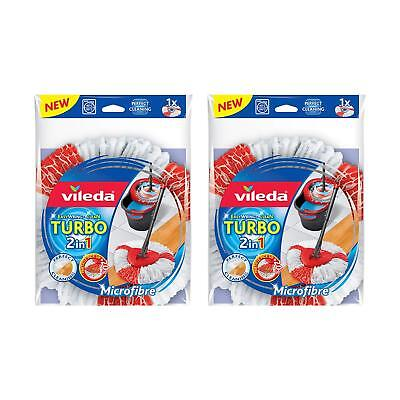 Vileda Balai facile & Clean Turbo 2 en 1 Balai Microfibre recharge Tête – Lot