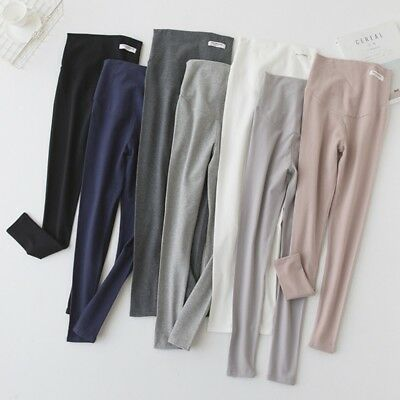Pregnant Elastic High Waist Stretch Trousers Maternity Soft Cotton Buttock Pants